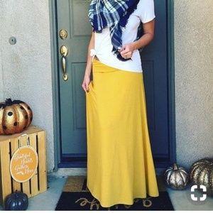 Lularoe | NWT Mustard Yellow Maxi Skirt